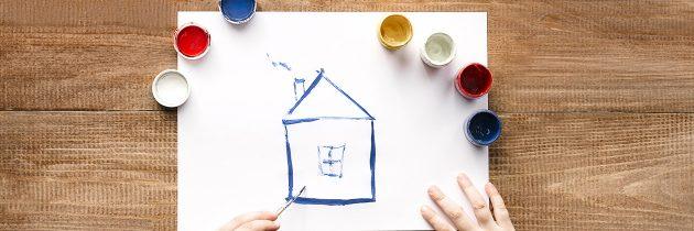 Peindre les murs après l'achat d'un appartement